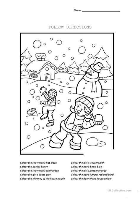 Follow Directions Worksheet  Free Esl Printable Worksheets Made By Teachers