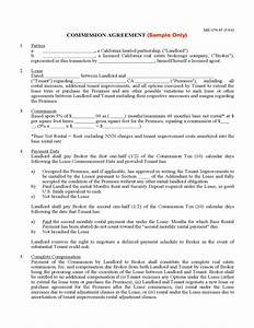 commission agreement free download With commission only contract template