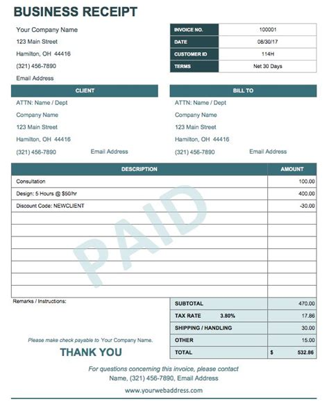 free digital receipt book template 13 free business receipt templates smartsheet