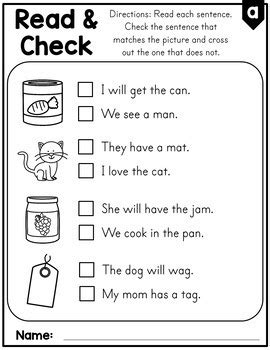 fluency and comprehension worksheets cvc words by s learners