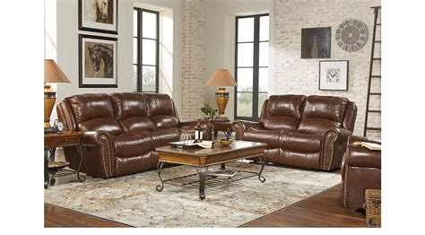 abruzzo brown  pc leather living room
