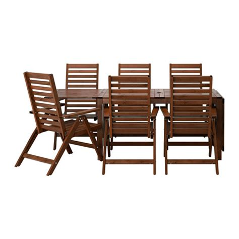 196 pplar 214 table 6 reclining chairs outdoor brown