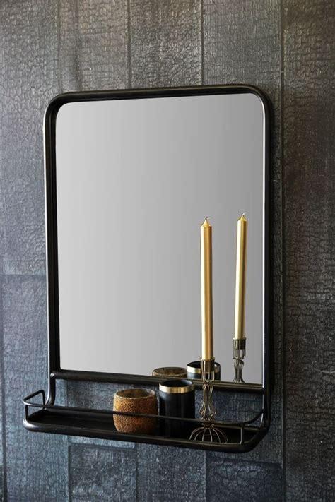 black wall mirror  shelf view  home accessories