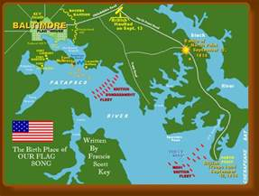And Battle of Fort McHenry Baltimore Map