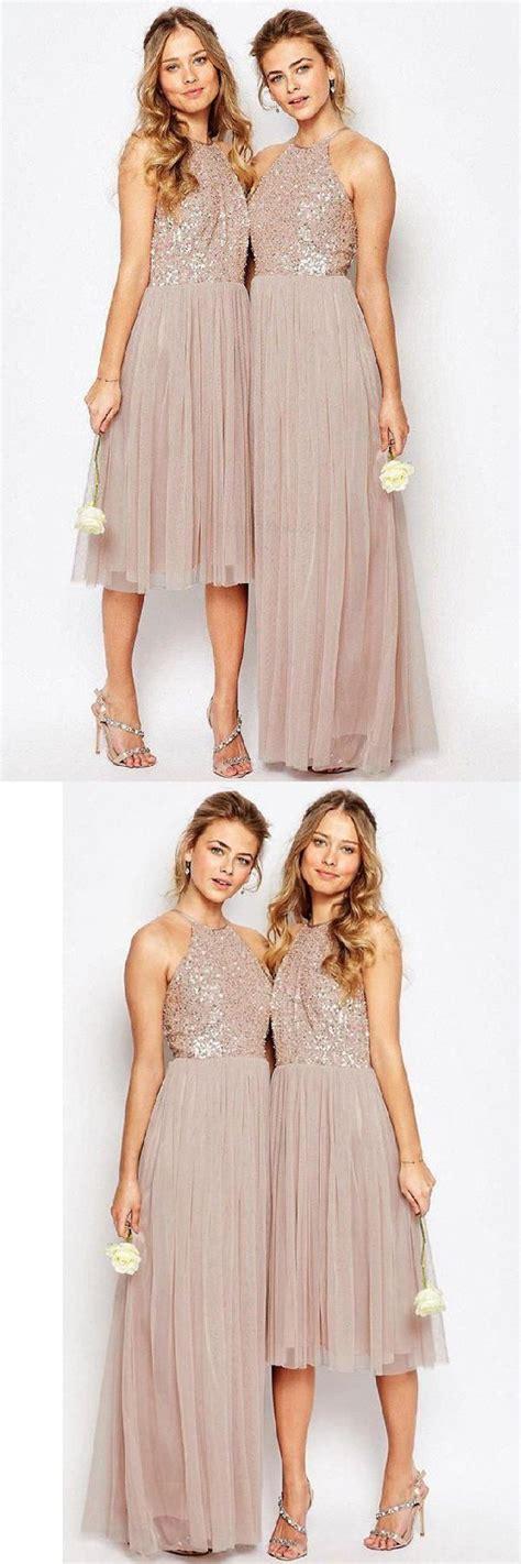 Gorgeous Sequins Top Halter Romantic A Line Short Long ...