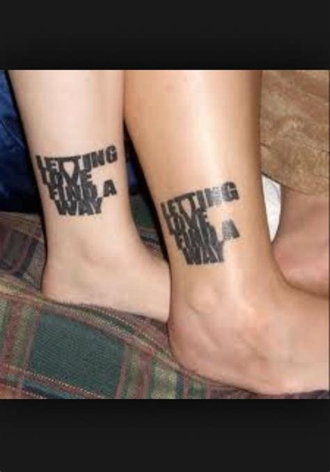 awesome matching tattoo design  couples