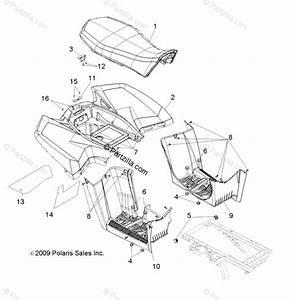 Polaris Atv 2010 Oem Parts Diagram For Body  Rear Cab