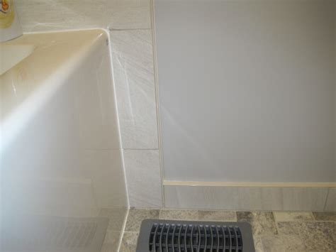 Cutting Schluter Tile Edging by Tiled Tub Surround Shower