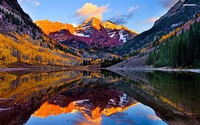 Lake Mountain Fall Wallpapers Maroon 1920 1200