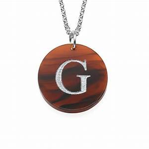 acrylic initial disc necklace mynamenecklace uk With acrylic letter necklace