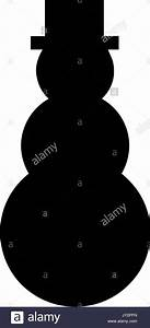 a black and white silhouette of a snowman in a top hat ...