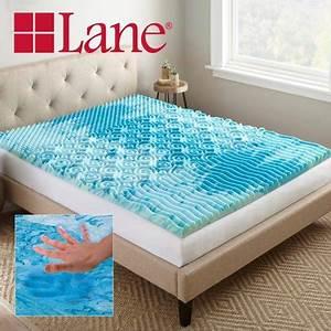 lane 2 inch cooling gellux memory foam gel mattress topper With cooling mattress pad for memory foam