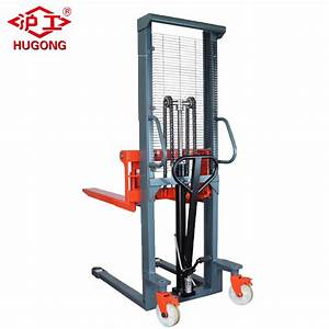 China 1 6m Lifting Manual Forklift Manual Pallet Stacker