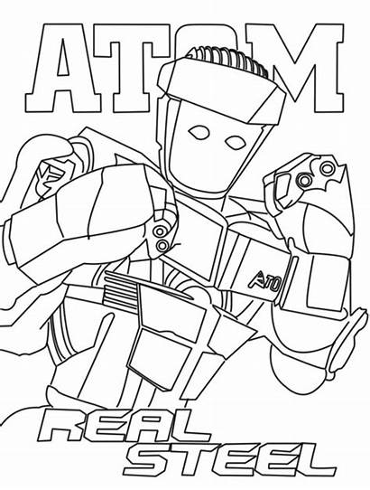 Coloring Steel Pages Robot Atom Boy Noisy