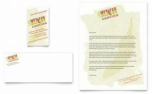 mexican restaurant business card letterhead template design With restaurant letterhead templates free