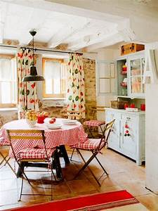 Cute  Colorful  Country Kitchen