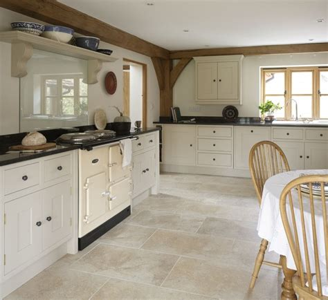 Painted Kitchen With Limestone Floor Httpwww