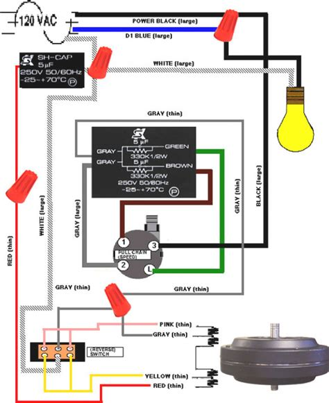 wiring diagram for 3 speed ceiling fan switch readingrat net