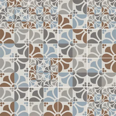 Italian tiles with graphic design of Majolica and Carpet