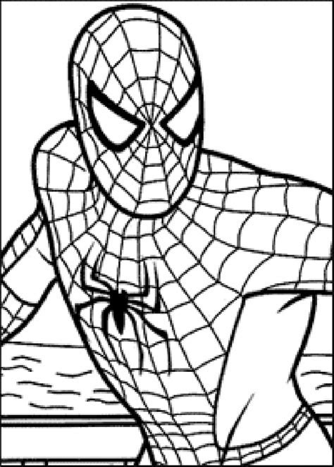 spiderman coloring pages  large images visit