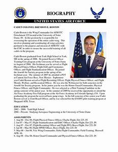 air force biography template templates data With air force bio template