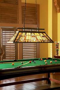 complete your billiards room with a traditional stained With 4 lamp pool table lights