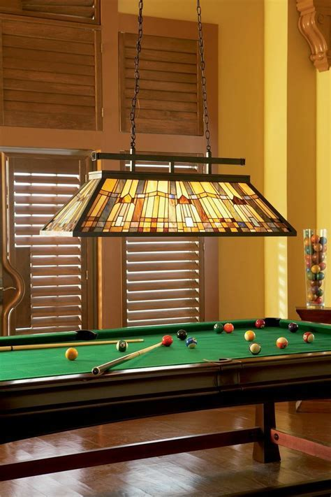 Complete your billiards room with a traditional stained
