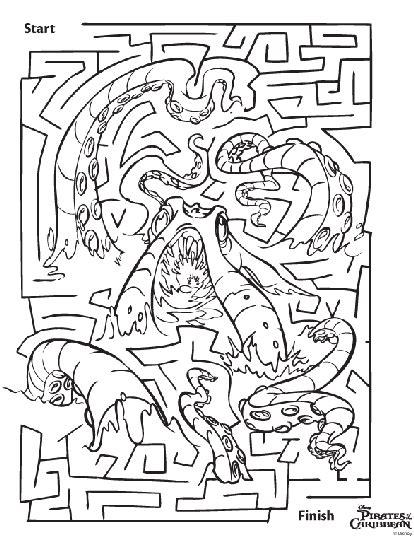 disney pirates   caribbean maze coloring page