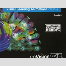 Envision Math California 5 Visual Learning Animations (cd) [0328377953]  $5495  K12 Quality