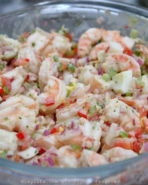 how to make shrimp salad shrimp salad with cilantro mayonnaise laylita s recipes