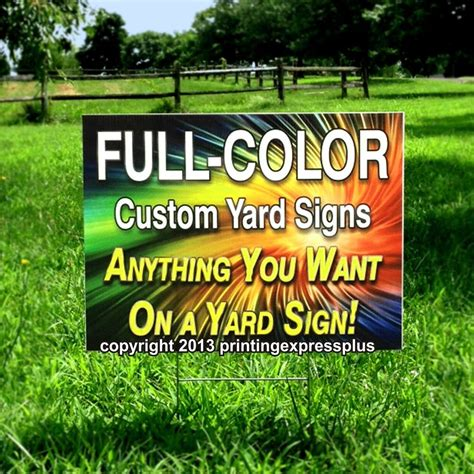 Custom Backyard Signs by 6 18x24 Color Custom Yard Signs Printed One Side Ebay