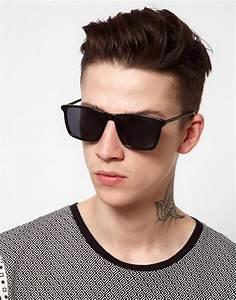 Cheap monday Mars Wayfarer Sunglasses in Black for Men | Lyst