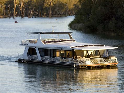 Houseboat On The Murray by The Murray River Nature And Wildlife The Murray