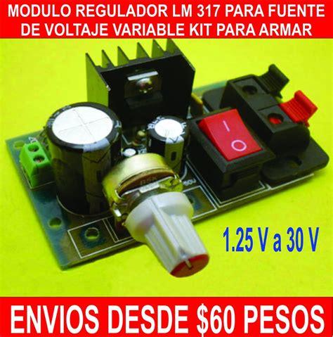 modulo regulador de voltaje lm kit fuente variable  en mercado libre