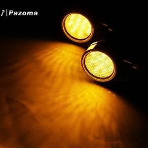 Black Bullet Amber Led Turn Signal Light Redirector Lamp