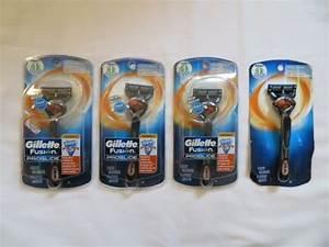 4  Gillette Fusion Proglide Flexball Razors  1 Razor  U0026 1