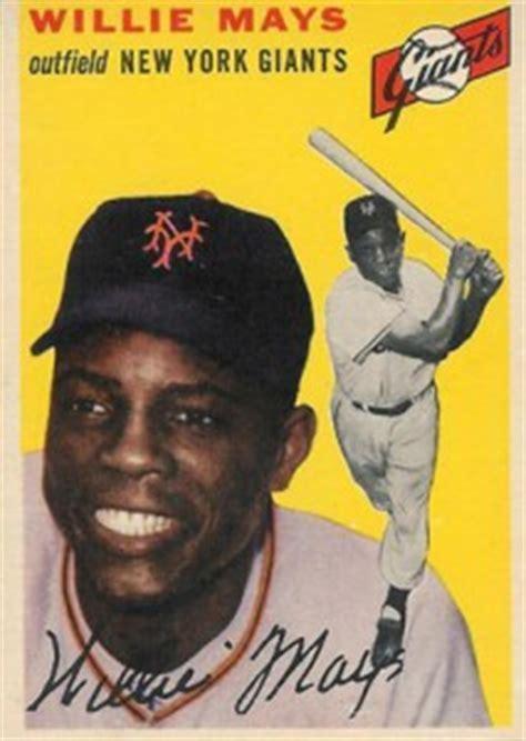 top willie mays cards vintage rookies autographs