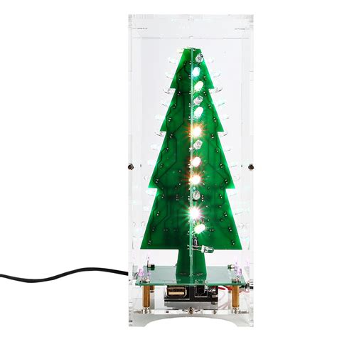 music box for christmas tree lights tree led 3d diy electronic learning kit with mp3 box colorful lights 7
