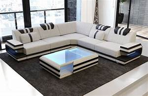 Sofa Dreams : modern sectional fabric sofa san antonio l shape with led ~ A.2002-acura-tl-radio.info Haus und Dekorationen