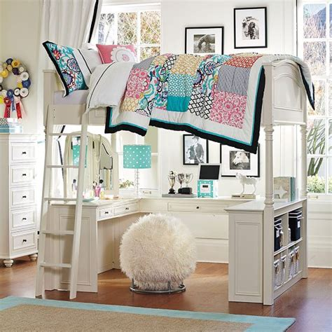 bunk bed desk combo pottery barn chelsea vanity loft bed pbteen 1899 is this not the