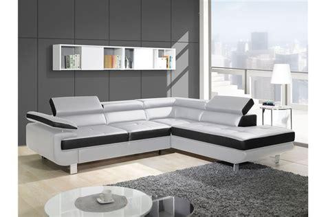 canape cuir angle droit canapé design d 39 angle studio cuir pu noir canapés d