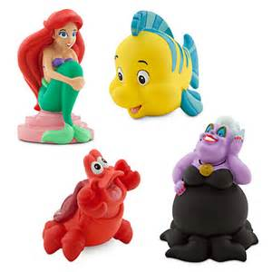 Nightmare Before Christmas Bath Toy Set by The Little Mermaid Squeeze Toy Set Disney Princess