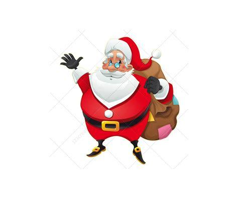 Santa Claus Card By Benchart Vectors Eps Santa Claus Vector Pack Various Santa Characters