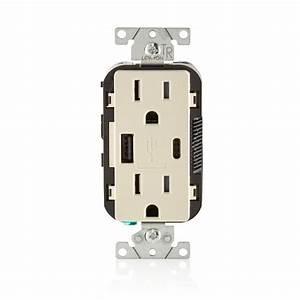 Leviton 15 Amp Tamper Outlet