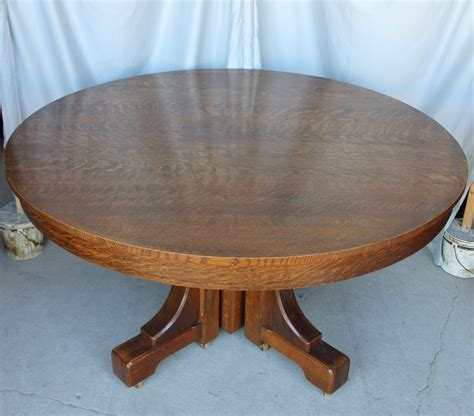 54 dining table with leaf bargain s antiques mission style oak dining 8992