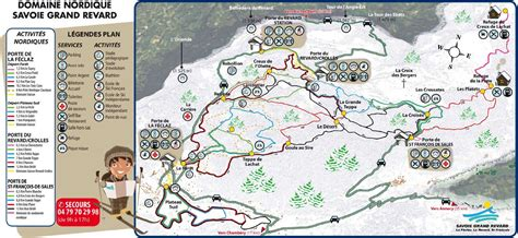country plans la féclaz cross country skiing piste map alpski com