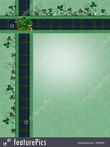 Holiday Party Background Templates Irish Plaid Borders Template Stock