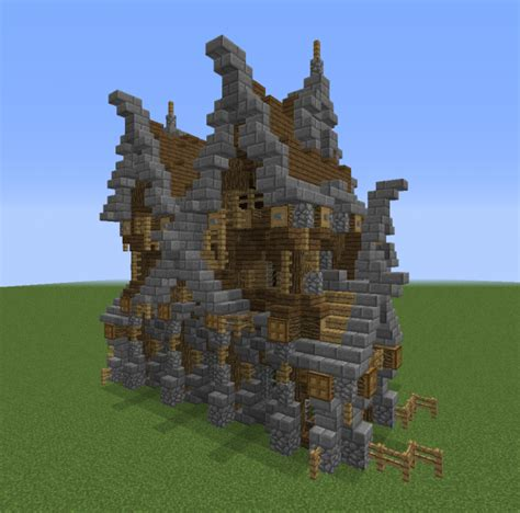 small unfurnished gothic house grabcraft  number  source  minecraft buildings