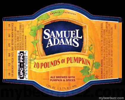 Sam Adams Pumpkin Beer 2017 samuel adams 20 pounds of pumpkin hitting 12oz bottles