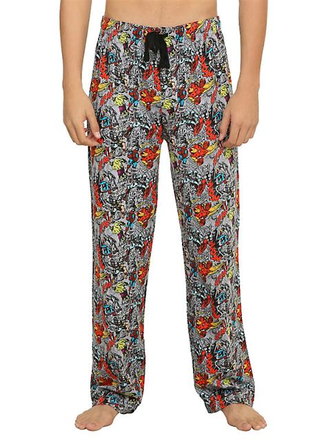 hotpants sm dotty pajamas marvel heroes guys pajama topic